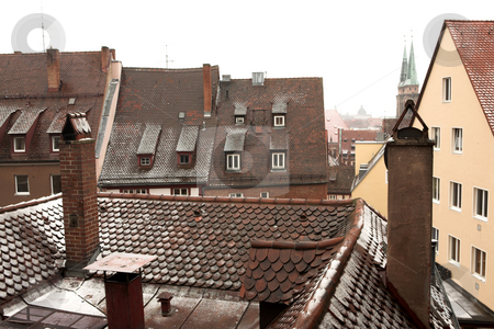 Munich #55 stock photo, Rooftops of duildings in  Neurenburg - Munich by Sean Nel