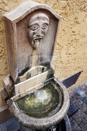 Cannes #15 stock photo, Old ornate public drinking fountain in Cannes, France by Sean Nel