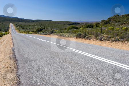 Roads #10 stock photo, The long lonely road - Western Cape, South Africa by Sean Nel