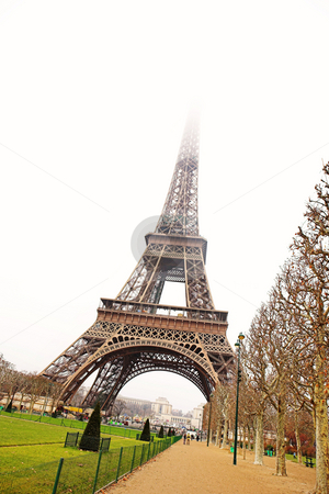 Paris #22 stock photo, The Eiffel Tower in Paris, France. Copy space. by Sean Nel