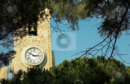 Cannes #18 stock photo, Clock tower on the La Tour Du Suquet in Cannes by Sean Nel