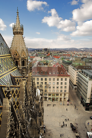 Vienna #62 stock photo, The Vienna Skyline and St Stephens DOM Tower by Sean Nel