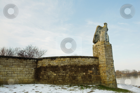 Straubing #12 stock photo, Old Cirty gate leading to Danube River - Eagle Gaurdian by Sean Nel