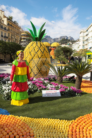 Menton #12 stock photo, The Citrus parade in Menton, France by Sean Nel