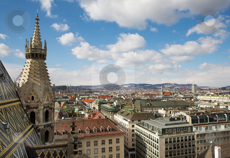 Vienna #65 stock photo, The Vienna Skyline and St Stephens DOM Tower by Sean Nel