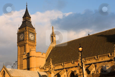 Bigben #11 stock photo, The buildings of the House of Parliament and Bigben - Sunset by Sean Nel