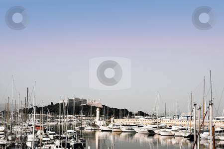 Antibes #276 stock photo, A harbor  in Antibes, France.   Digital Artwork.   Copy space. by Sean Nel