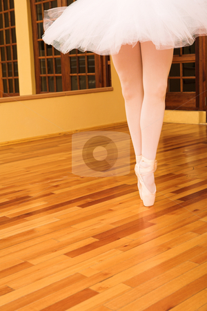 Ballerina #12 stock photo, Lady doing ballet in a studio. by Sean Nel