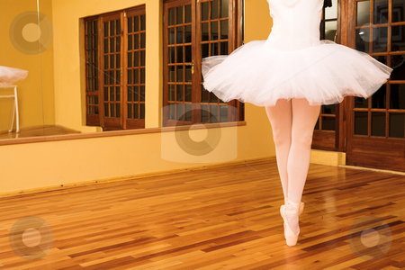 Ballerina #14 stock photo, Lady doing ballet in dance studio. by Sean Nel