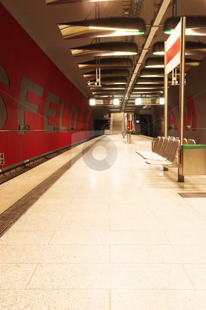 Munich #35 stock photo, A underground train station by Sean Nel