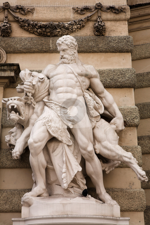 Vienna #34 stock photo, The statues of Hercules outside the Hoffberg Palace by Sean Nel