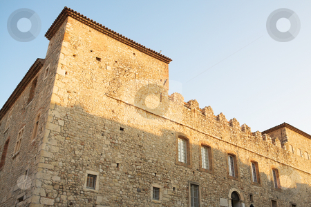 Building in Antibes  stock photo, Old castle-like building in Antibes, France. Copy space by Sean Nel