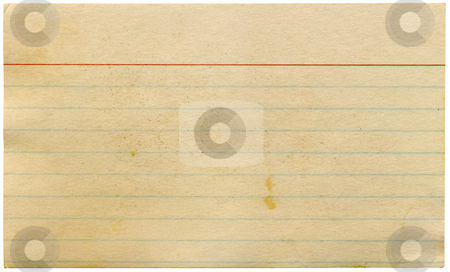 Dirty old yellowing blank index card isolated on white. stock photo, Dirty old yellowing blank index card isolated on white. by Stephen Rees