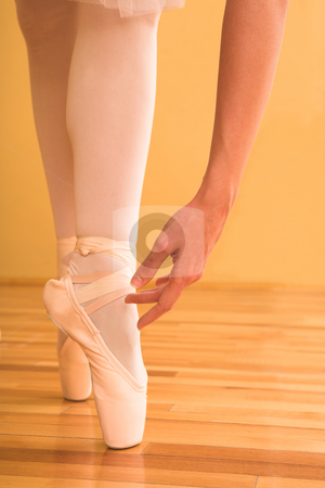 Ballerina #05 stock photo, Lady doing ballet in studio. by Sean Nel