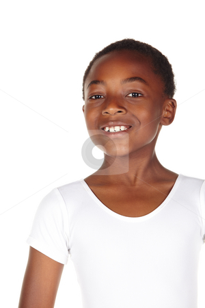 Young African dancer stock photo, Young African ballet boy on white background showing various ballet steps and positions. Not Isolated by Sean Nel