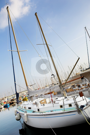 Cannes #52 stock photo, Yachts in the the harbor (Port Le Vieux) in Cannes, France. by Sean Nel