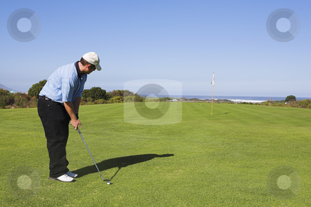 Golf #26 stock photo, Man playing golf by Sean Nel