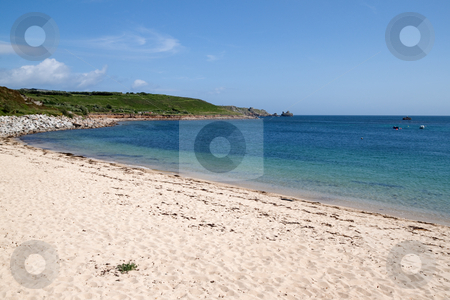 Porthcressa beach, St. Mary's Isles of Scilly, Cornwall UK. stock photo, Porthcressa beach, St. Mary's Isles of Scilly, Cornwall UK. by Stephen Rees