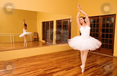 Ballerina # 08 stock photo, Lady doing ballet in a dance studio. by Sean Nel