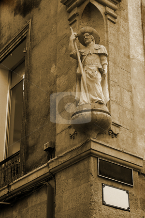 Statue in Aix-en-provence stock photo, Statue on a building in Aix-en-provence, France. Sepia tone by Sean Nel