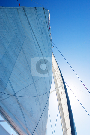Boat #2 stock photo, White Yacht sail and radio mast by Sean Nel