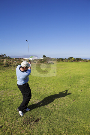 Golf #27 stock photo, Man playing golf by Sean Nel
