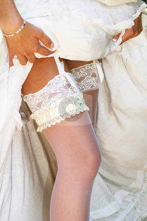 Stockings and Garter stock photo, Bridal stockings and garter by Sean Nel