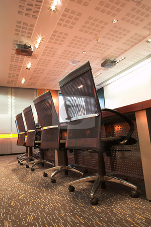 Office #1 stock photo, Modern interior of a boardroom. by Sean Nel