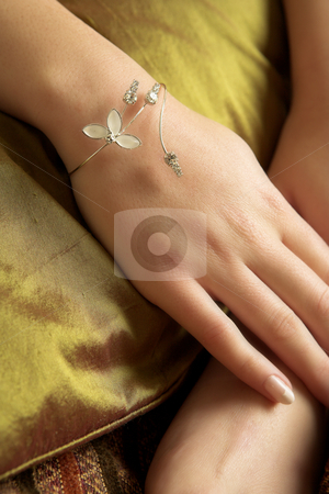 Lingerie#253 stock photo, Hands and bracelet. by Sean Nel