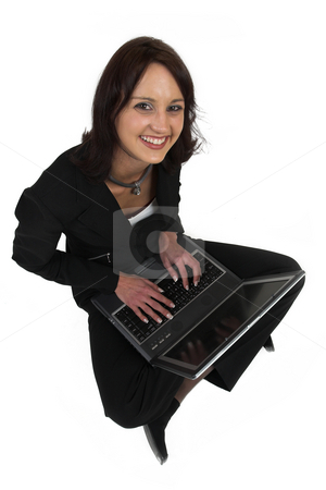 Business Lady #60 stock photo, Business woman with notebook computer by Sean Nel