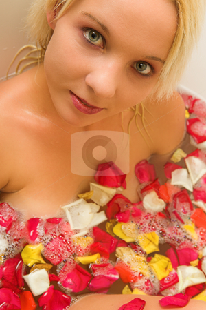 Woman #176 stock photo, Nude woman in a bath.  Shallow D.O.F by Sean Nel