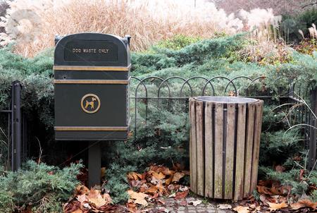 London#35 stock photo, Dustbin in a park in London. by Sean Nel