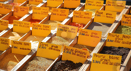 StRaphael #4 stock photo, Spices sold at the market in St Raphael, France by Sean Nel