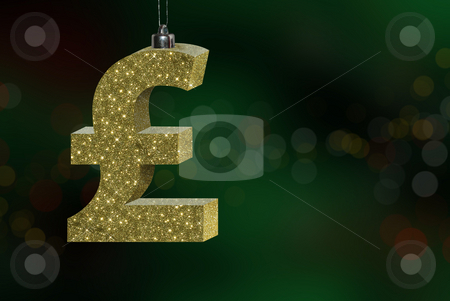 The cost of Christmas stock photo, Conceptual image showing the cost / expense of Christmas, with a British Pound Sterling sign. by Rebecca Campbell