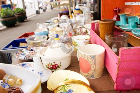 Antique #1 stock photo, Antique porcelain bottles at a fleamarket by Sean Nel