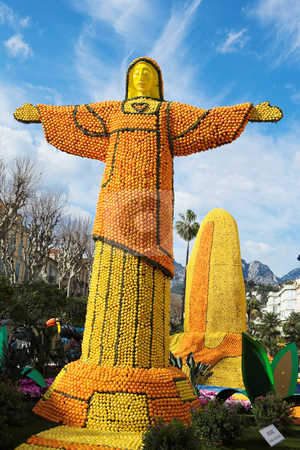 Menton #14 stock photo, The Citrus parade in Menton, France by Sean Nel