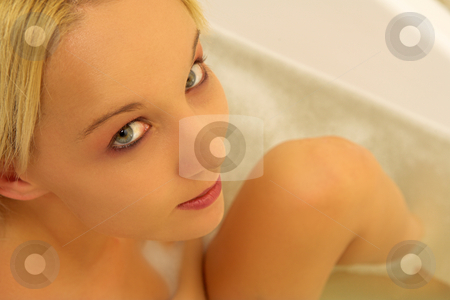 Woman #177 stock photo, Nude woman in a bath.  Shallow D.O.F by Sean Nel