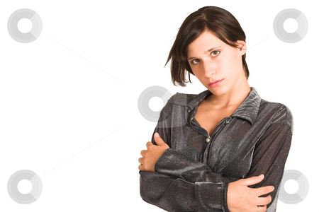 People #22 stock photo, Business woman dressed in a smart shirt.  Copy Space by Sean Nel