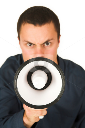Franscoisbooysen #174 stock photo, Man with Megaphone  by Sean Nel