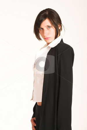 Business Woman #274 stock photo, Business woman dressed in a pencil skirt and jacket. by Sean Nel
