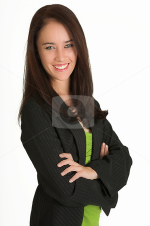 Business Woman #523 stock photo, Portrait of a brunette business woman, smiling by Sean Nel
