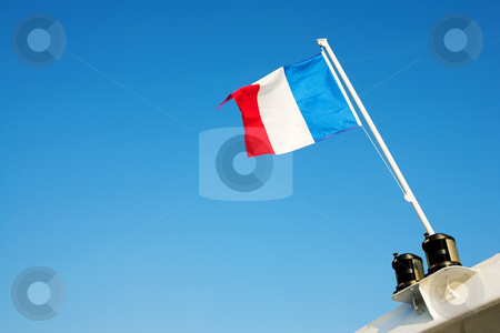 Cannes #59 stock photo, Waving French Flag by Sean Nel