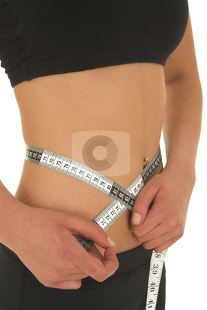 Gymbunny #35 stock photo, Woman with measuring tape by Sean Nel