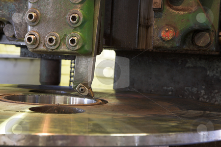 Industrial milling machine stock photo, Heavy duty industrial milling machine and Lathe in a factory setting by Sean Nel