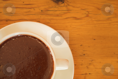 Lunch #39 stock photo, A cup of hot chocolate on a table by Sean Nel