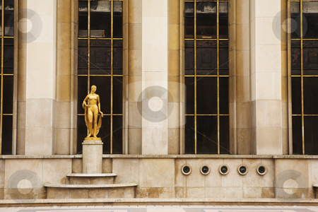 Paris # 70 stock photo, An old building with golden statues in Paris, France. by Sean Nel