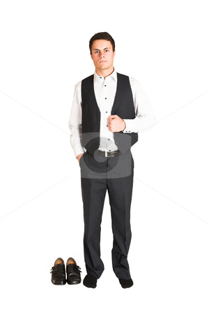Businessman #113 stock photo, Businessman standing. Full length by Sean Nel
