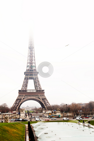 Paris #32 stock photo, The Eiffel Tower in Paris, France. Copy space. by Sean Nel