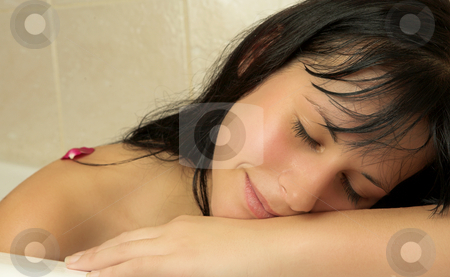 Woman #101 stock photo, Nude woman in a bath. by Sean Nel
