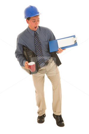 Businessman #109 stock photo, Man carrying work. by Sean Nel